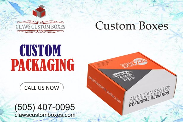 Enhance the products with custom boxes